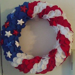 🇺🇸Hand crafted patriotic wreath
